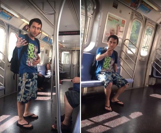 ▲▼紐約一名女子被白人男子粗口侮辱髒話,並有許多歧視中國人的言論。(圖/翻攝自YouTube/Gothamist)