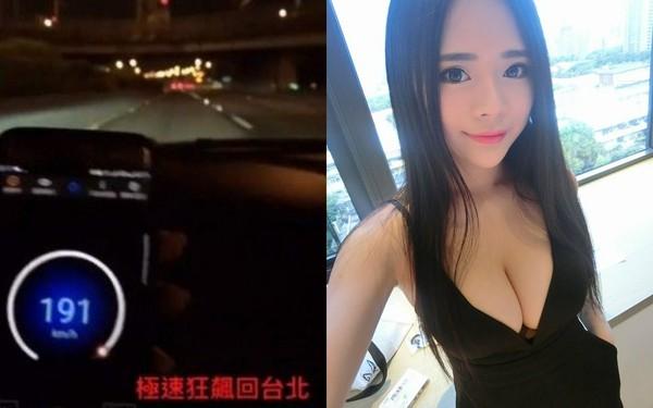 ▲國道極速狂飆190公里po網 網美挨轟「直接變亡美」(圖/翻攝自謝仁馨臉書)