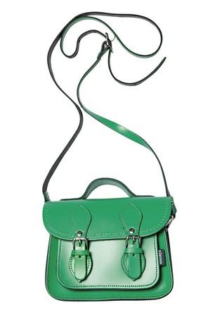 Zatchels綠色學院風小書包,約NT$2,500。