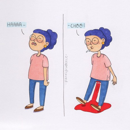 插圖訴說女生心聲(圖/翻攝自Boredpanda)