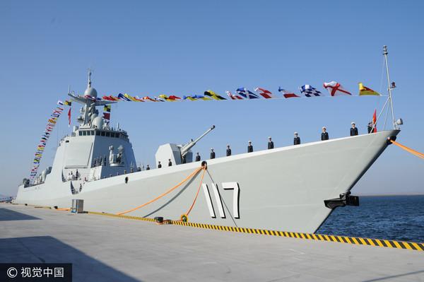 ▲▼北海艦隊首艘052D型驅逐艦「西寧艦」(舷號為117)。(圖/CFP)