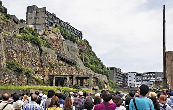 軍艦島目前已被列為世界文化遺產,並在日本政府推廣下,成為熱門觀光景點。(翻攝自網路)