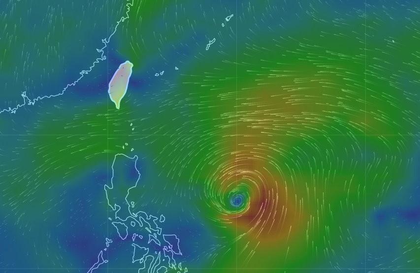 氣象局說,下周在菲律賓一帶可能有熱帶擾動發展。(圖/翻攝氣象局網站)