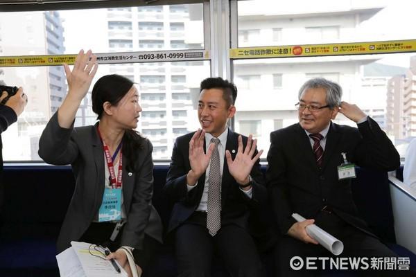 林智堅日前前往日本北九州市,考察全日本首座「跨座式高架輕軌」。(圖/新竹市政府提供)
