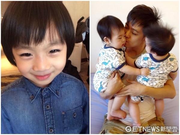 ▲KIMI長大了,幫爸爸林志穎分擔帶小孩。(圖/翻攝微博)