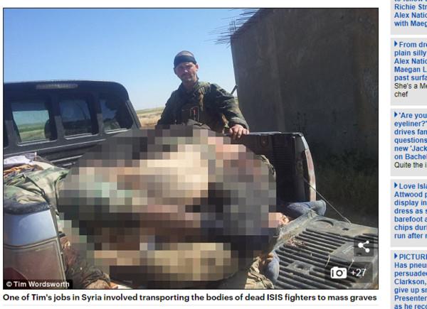 ▲▼英國39歲的退伍軍人華滋華斯(Tim Wordsworth)吃過IS恐怖分子內臟。(圖/翻攝自《每日郵報》)