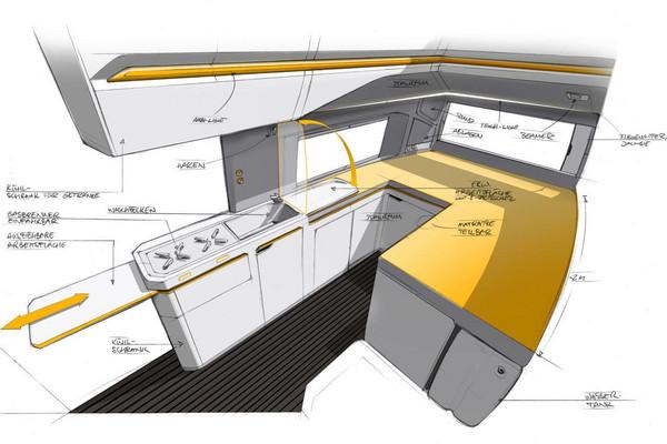 ▲真陸上移動豪宅!有廚房還有淋浴間 比家更舒適。(圖/翻攝自Volkswagen)