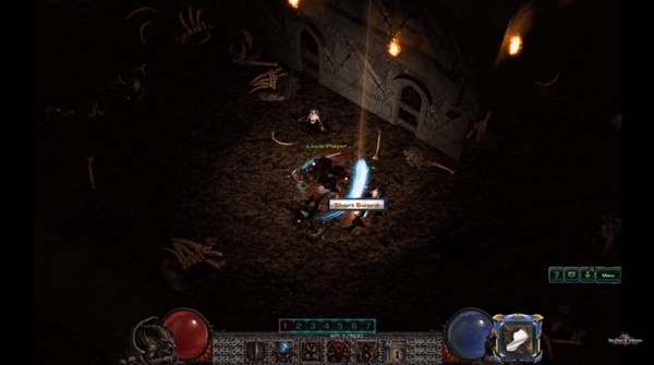 玩家自製「星海2→暗黑2」地圖模組 玩起來有90%像。(圖/取自YouTube)