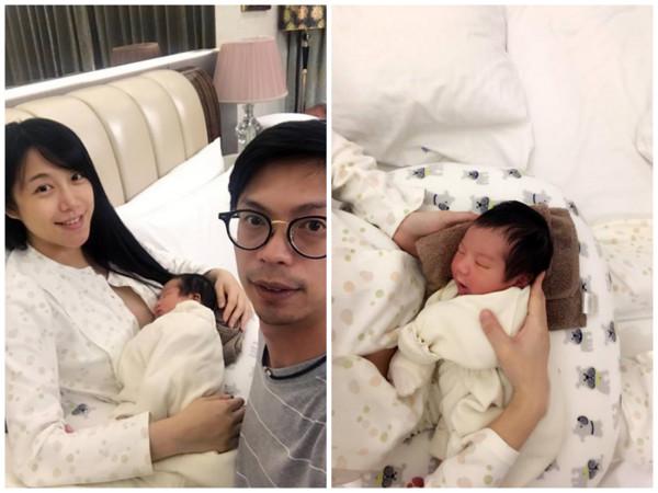 ▲雙胞胎佩佩日前產下女兒。(圖/璽恩產後護理之家提供)