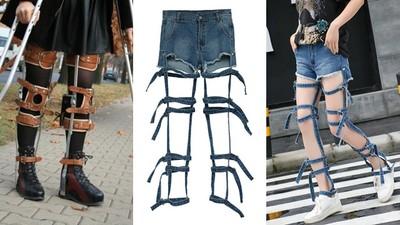 最夯牛仔褲「破到剩外框」 100%激似醫療支架
