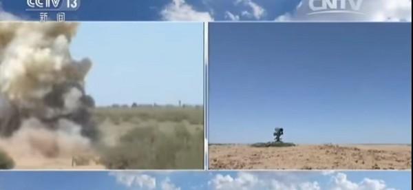 ▲▼紅箭-10、11、12的實彈射擊。(圖/翻攝自《央視》)