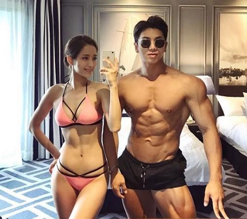 ▲南韓健身教練babebani(本名姜賢京,강현경)身材如「真人版娜美」。(圖/翻攝自babebani IG)