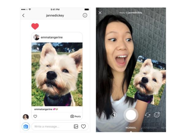 Instagram可用照片、視訊直接回覆好友了 。(圖/翻攝自官網)