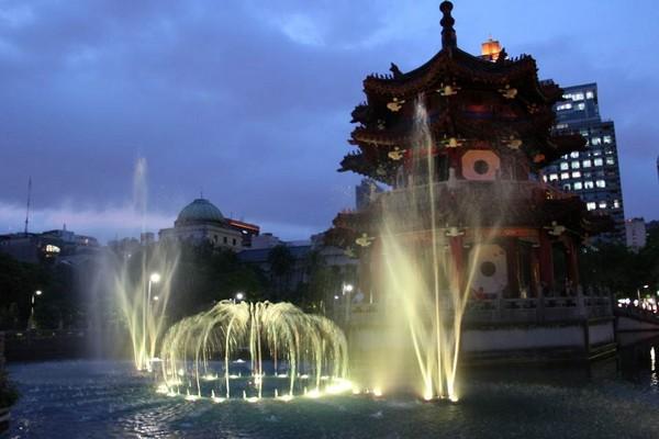 ▲228公園水舞 。(圖/台北市政府提供)