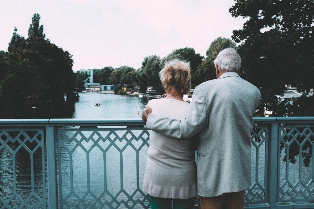 老人,老夫老妻,失智症。(圖/取自librestock網站)