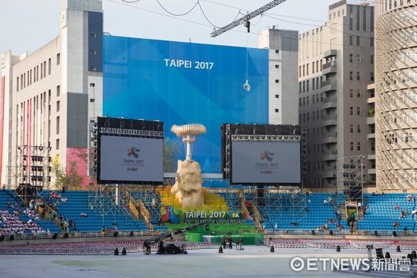 ▲▼台北世大運開幕典禮,場內最後彩排。(圖/記者季相儒攝)