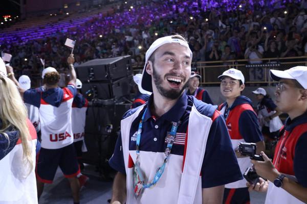 ▲台北世大運開幕,美國隊大讚「好美」。(圖/翻攝自推特/USA Team)