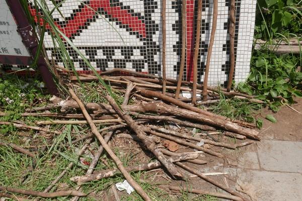 入口擺放木杖,使用後請歸還。