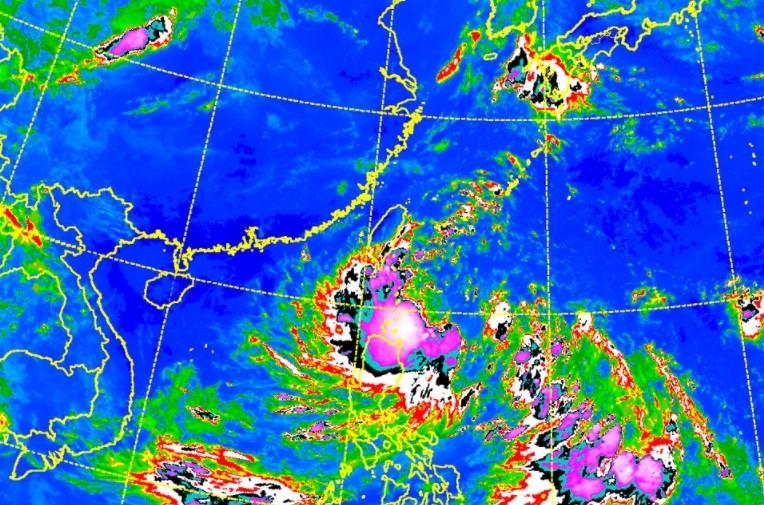 ▲天鴿颱風21日10時動態。(圖/中央氣象局)