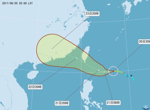 ▲▼天鴿襲擊南台灣!外圍環流挾豪雨…週一入夜到週二最劇烈。(圖/氣象局)
