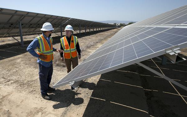 ▲▼美國加州的太陽能發電量將在日蝕期間大量剪髮。(圖/美聯社)