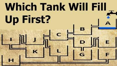 難!哪一個水槽會先滿?回答G的人都掉進陷阱GG了