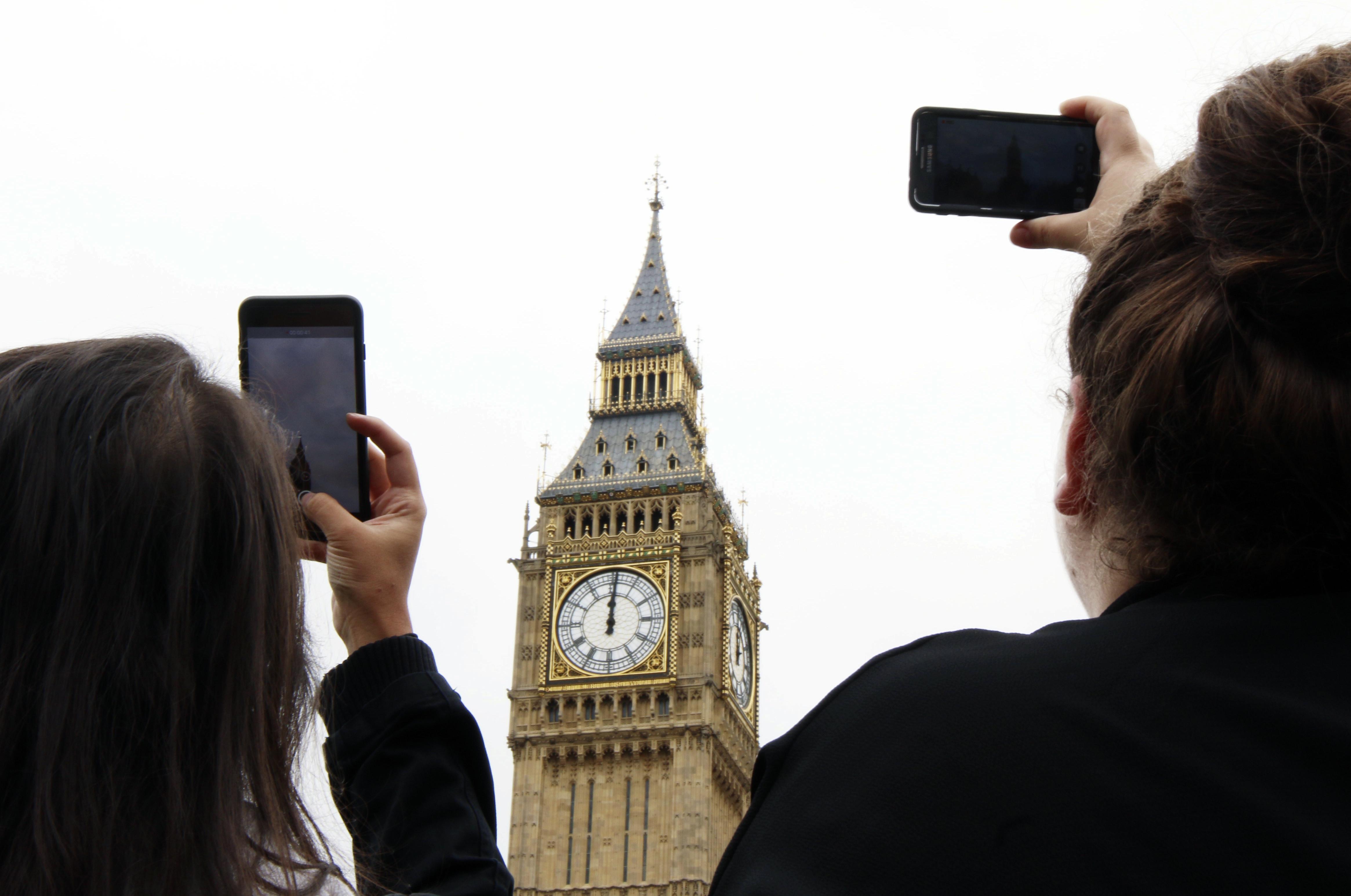 ▲▼英國倫敦的大笨鐘進入「沉默期」。(圖/達志影像/美聯社)