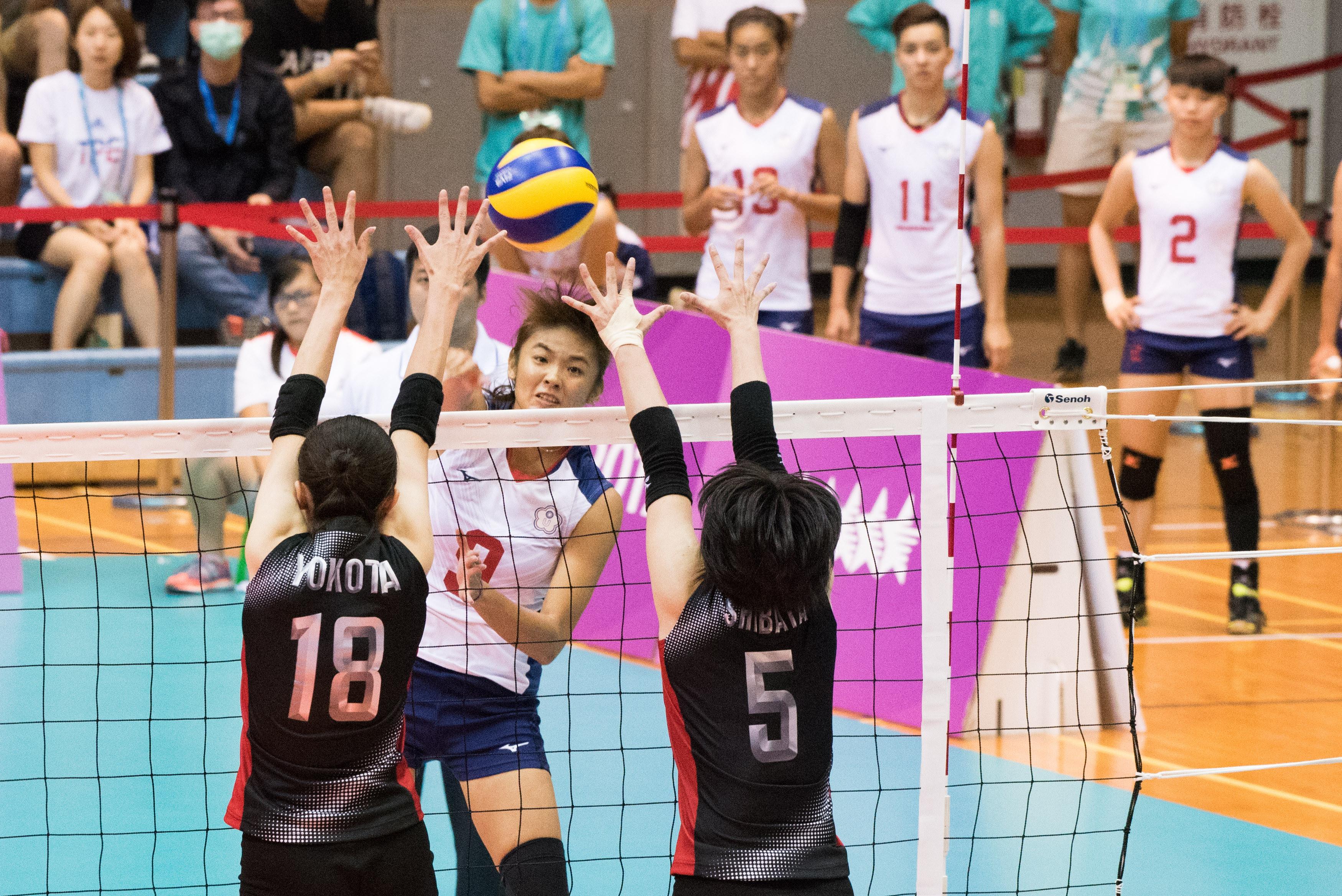 ▲▼台北世大運中華女排對日本,蕭湘凌。(圖/記者季相儒攝)