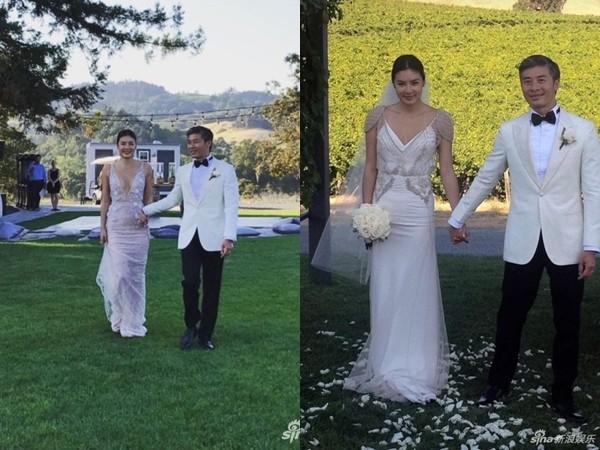 ▲樂基兒2017年跟老公在加州再婚。(圖/翻攝自《新浪娛樂》微博)