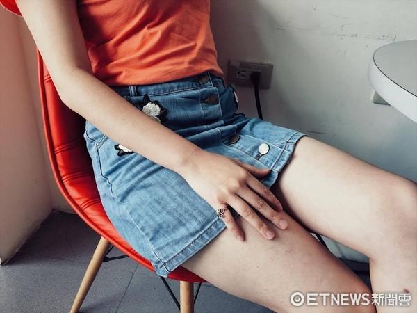 下體,腿,私密處,陰道,性暗示。(圖/記者李佳蓉攝)