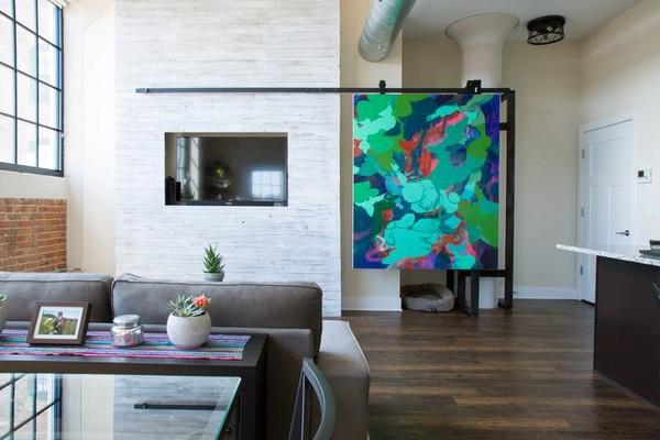 ▲居家电视墙设计。(图/翻摄apartment therapy)