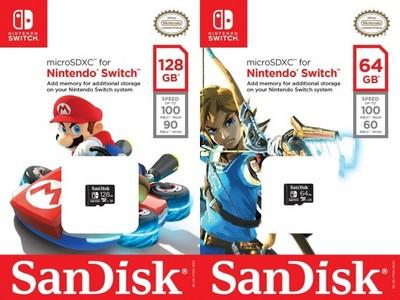 SanDisk推Switch microSD記憶卡