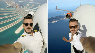 巴西機師開飛機高空自拍,被罵翻後滅火:「是P圖啦」