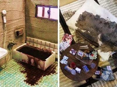 伸進浴缸腐血撈爛肉...日「微型小屋展」直擊孤獨死場景