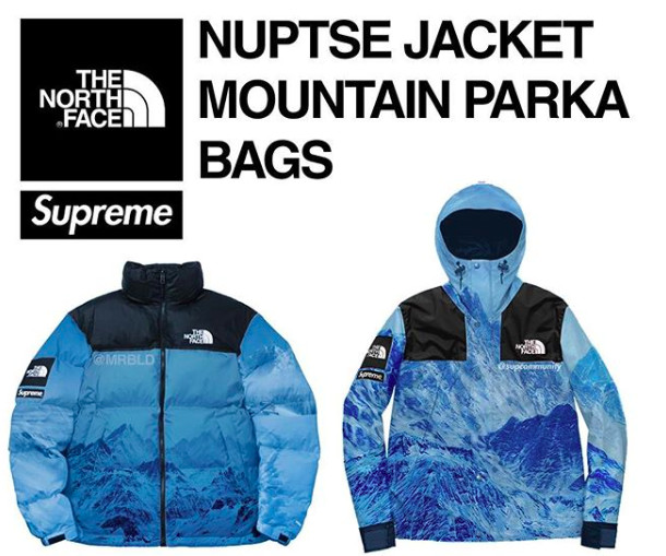 ▲Supreme x The North Face 2017秋冬聯名(圖/翻攝自mrbld Instagram)