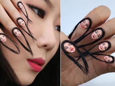 指甲長出頭髮?「人臉指甲」宛若分身,嚇壞網友不敢吃手手