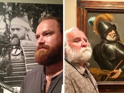他去博物館巧遇「前世」..111年前武士盔甲裡的是自己?