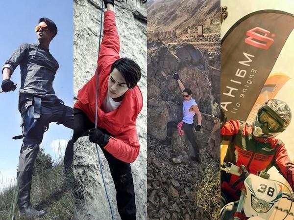 ▲汪東城為新戲挑戰高空跳傘、徒手攀岩等高難度動作。(圖/翻攝自《西夏死書》微博)
