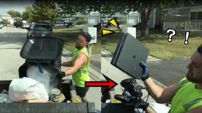 上班撿到PS4!清潔員實況收垃圾「以為壞掉」...回家爽打2K17