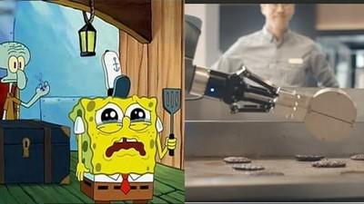 進駐漢堡機器人取代「海綿寶寶」 速食店CEO:失業可改當工程師