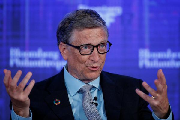 ▲▼微軟聯合創始人比爾·蓋茨(Bill Gates)在紐約彭博全球商業論壇上發表演講。(圖/路透社)