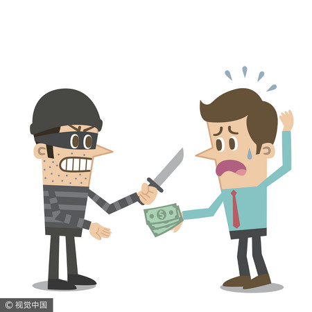 ▲▼搶劫,強匪,強盜,搶錢,打劫,被搶。(圖/視覺中國)