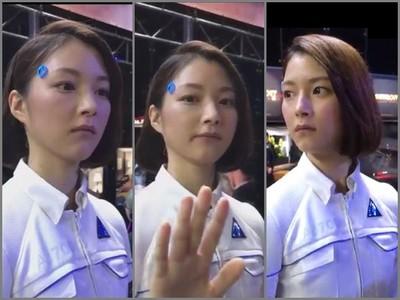 電玩展「正妹機器人」讓全場戀愛 肥宅:靠,還以為是真人