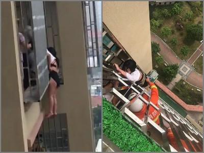 女子賭氣從18樓跳下,沒想到在17樓就GG