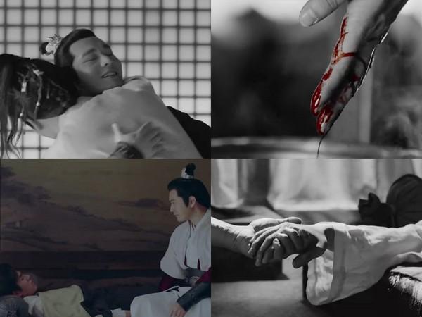 ▲黃曉明和劉昊然兄弟情深,疑似還有割血救弟橋段。(圖/翻攝自愛奇藝)