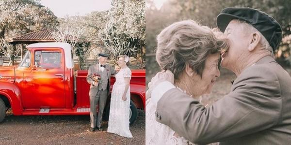 ▲▼執子之手,與子協老!攜手走過60年 老夫婦拍唯美婚紗照。(圖/翻攝自saopaulofotografia IG)