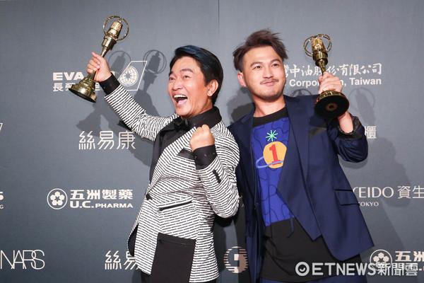 第52屆金鐘奬-益智及實境節目主持人獎-KID【林柏昇】、吳宗憲/綜藝玩很大。(圖/攝影中心攝)
