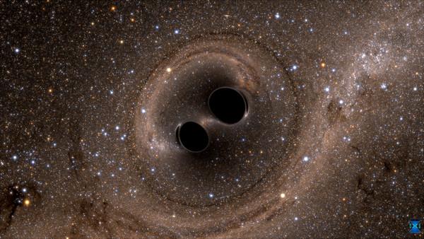 ▲▼雙黑洞,重力波。(圖/路透社)
