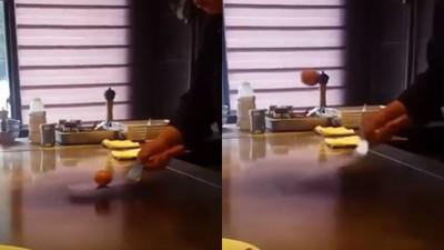 點荷包蛋卻目睹「雞蛋變跳蛋」 鐵板燒師傅:加送一顆心