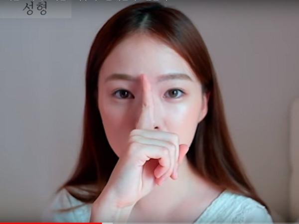▲▼韓Ha Neul整鼻後「一碰就歪」。(圖/翻攝自YouTube)